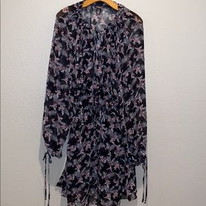 VIC SECRET Floral Sheer Wrap Coverup Robe XS